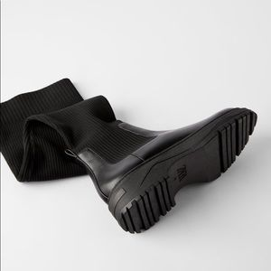 Low heel sock boot